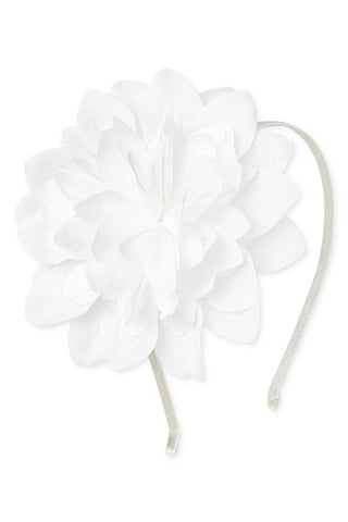 White Faith Flower Headband
