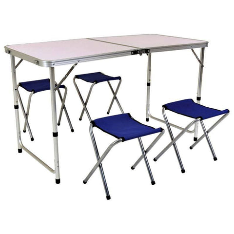 Table de Camping + 4 chaise pilante