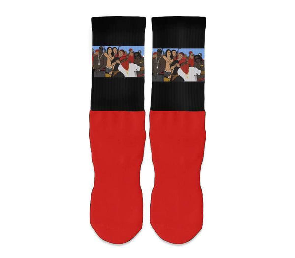 Design Your Own - Silky Athletic Red-Foot Socks