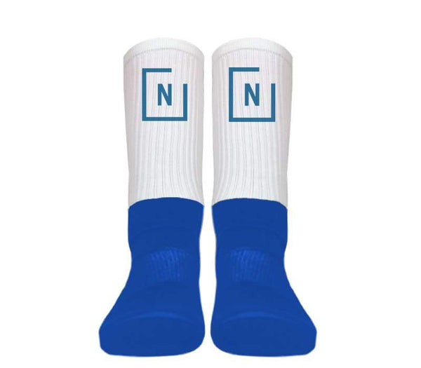 Custom - Silky Athletic Blue-Foot Socks