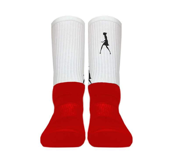 Custom - Silky Athletic Socks (Red Foot)