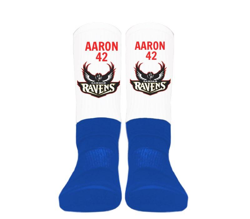 Custom - Silky Athletic Socks (Blue Foot)