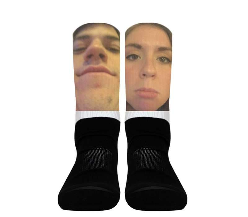 Custom - Silky Athletic Socks (Black Foot)