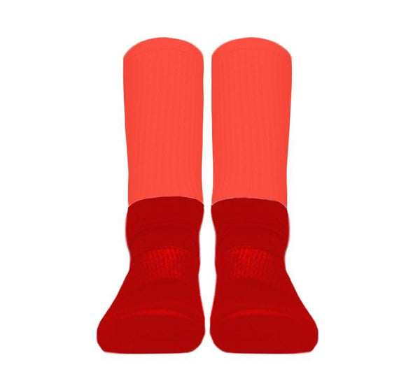 Custom - Athletic Socks (Red Foot)