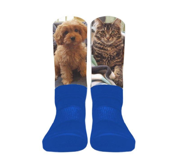 Custom - Athletic Socks (Blue Foot)