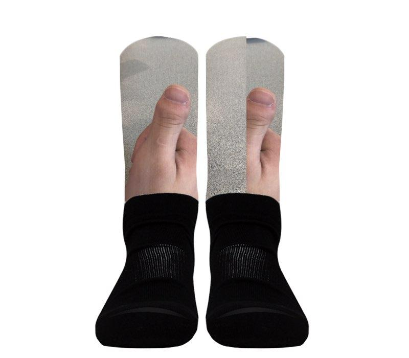 Custom - Athletic Socks (Black Foot)