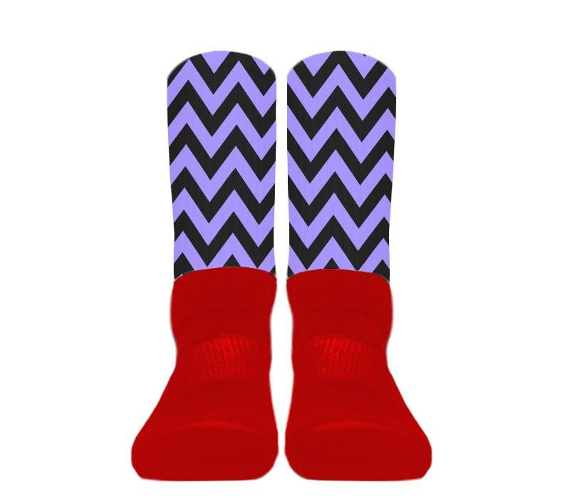 (Red Foot) Custom - Athletic Socks