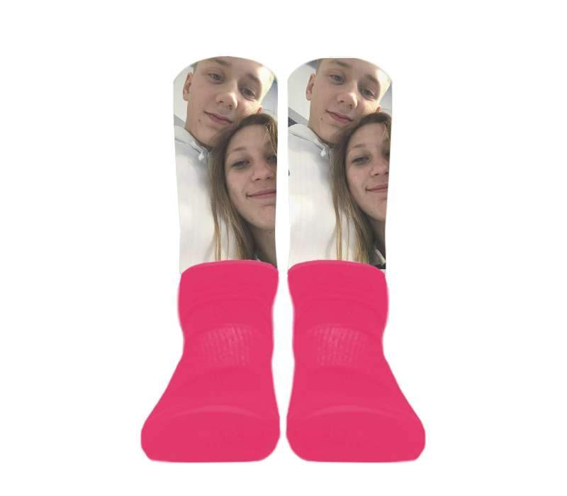 (Pink Foot) Custom - Athletic Socks