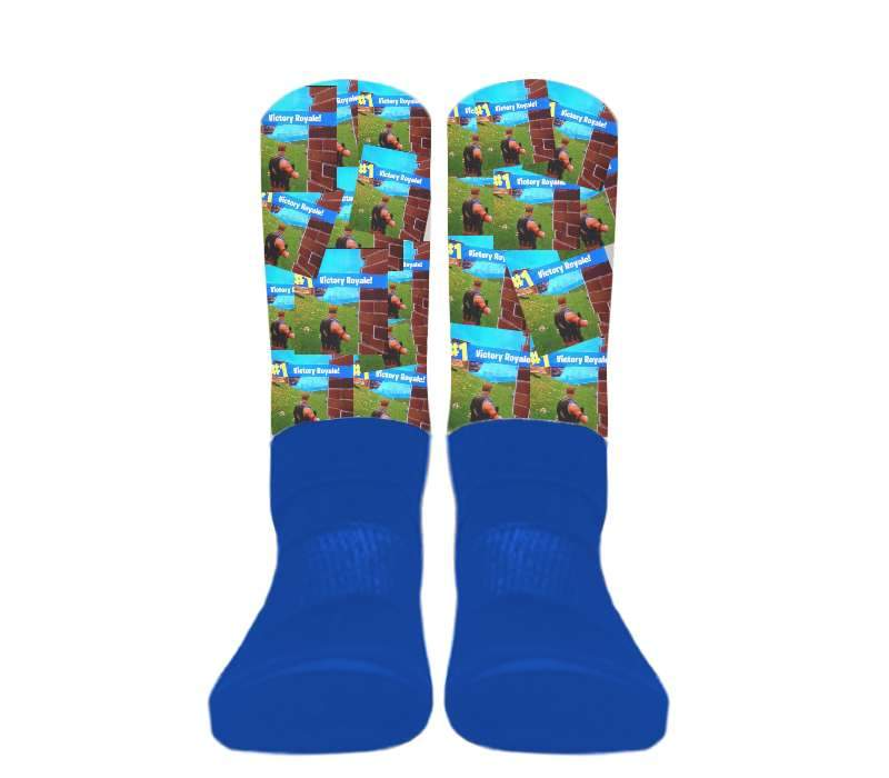 (Blue Foot) Custom - Athletic Socks