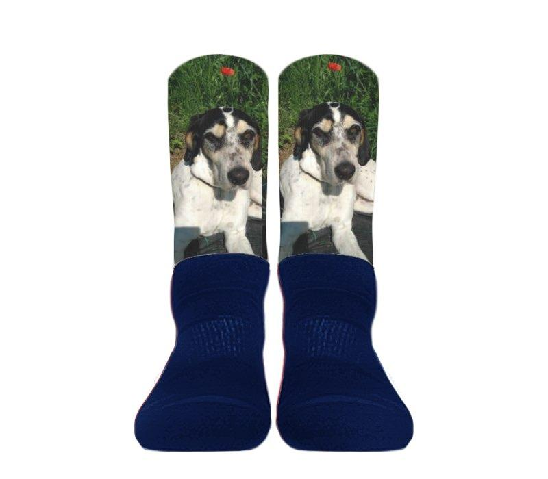 (Navy Foot) Custom - Athletic Socks