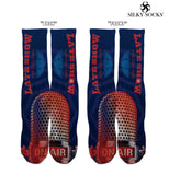 "Silky Socks to match Air Jordan ""Letterman"" 1s Michael Jordan microphone on air sublimation all over socks"