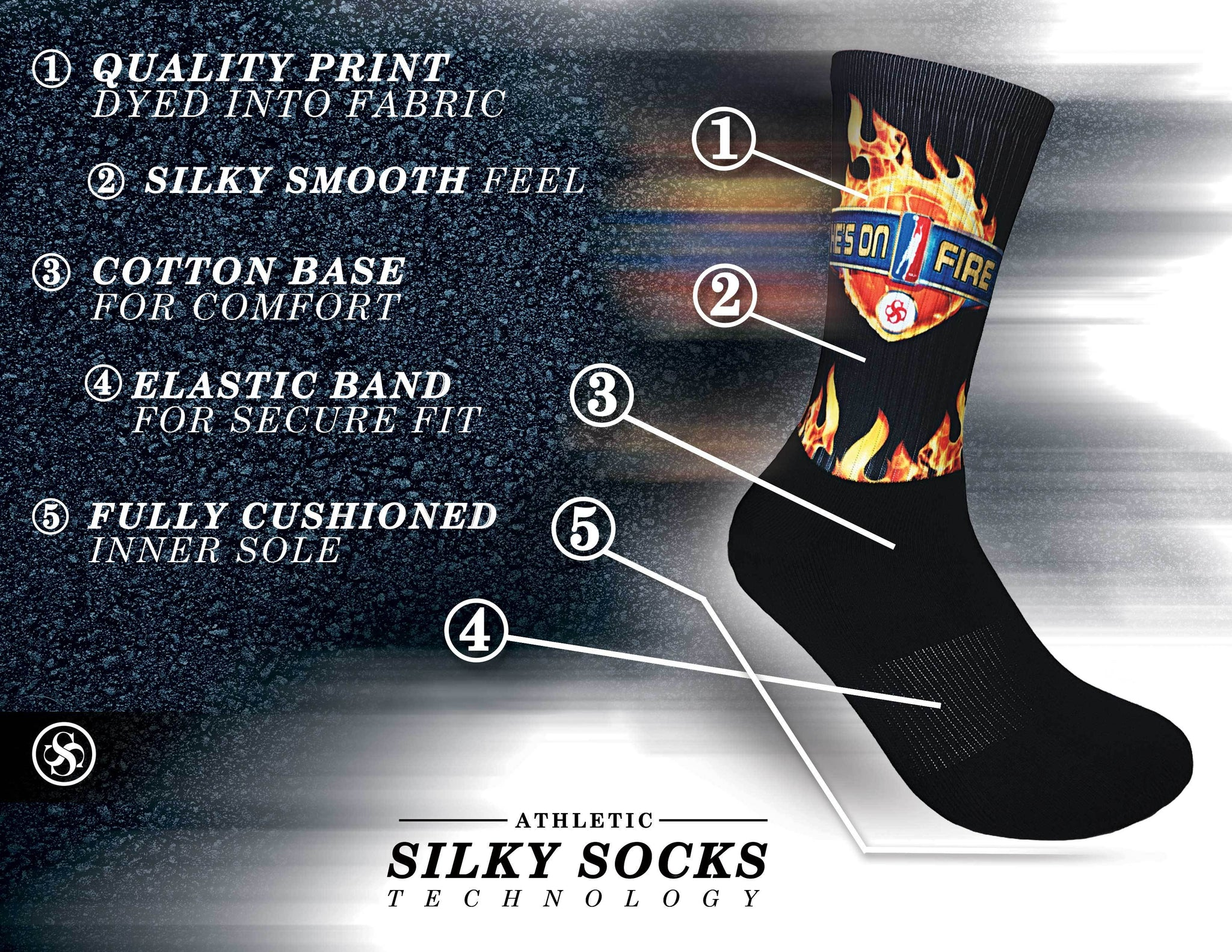 Athletic White Socks | Silky Socks