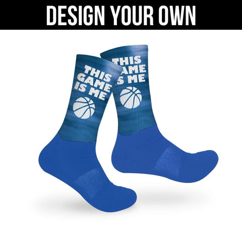 Blue Athletic Socks - Custom