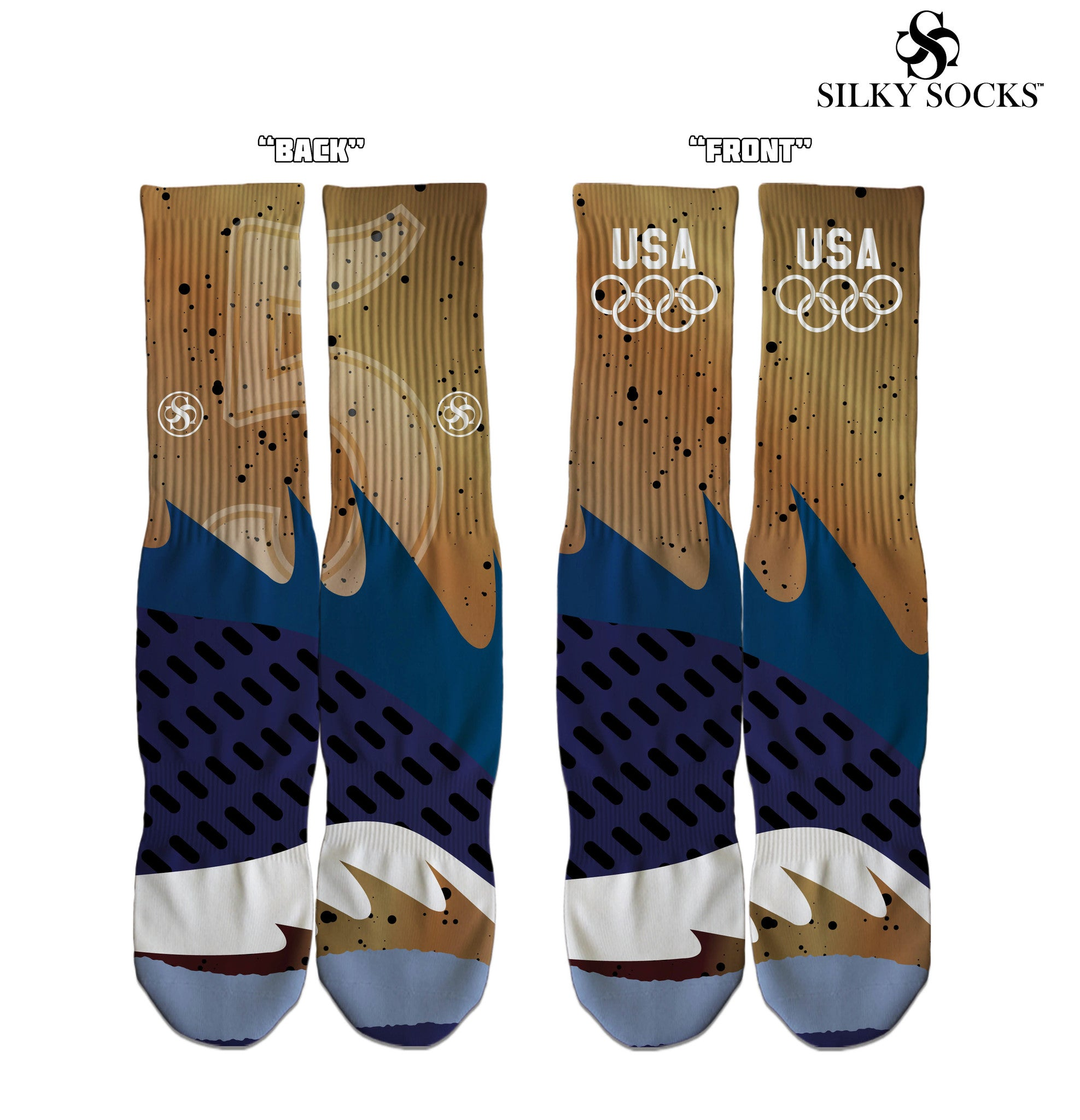 Bronze 5 Socks Air Jordan 5s matching sneakerhead socks