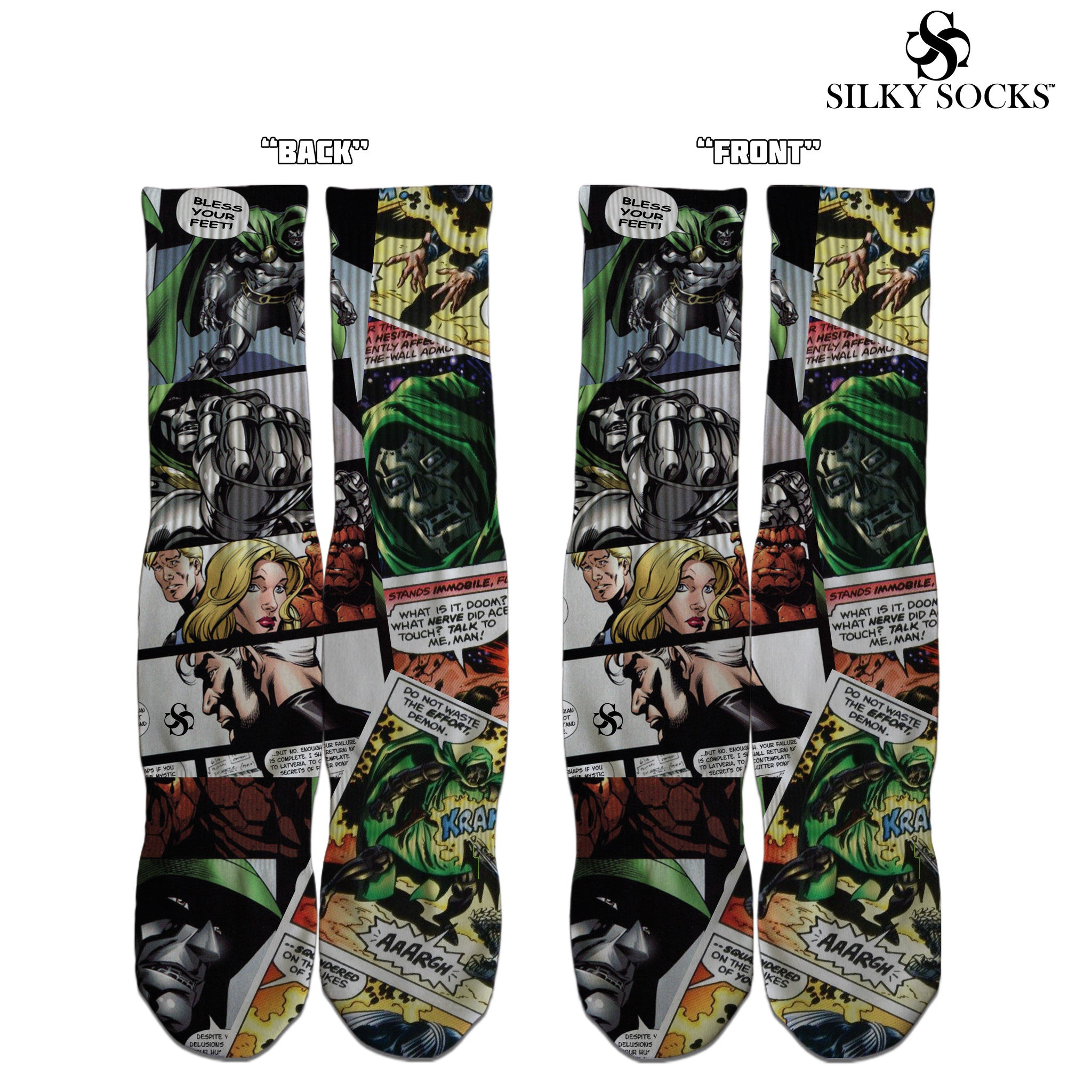 Doom Comics Custom Socks - SILKY SOCKS - official store