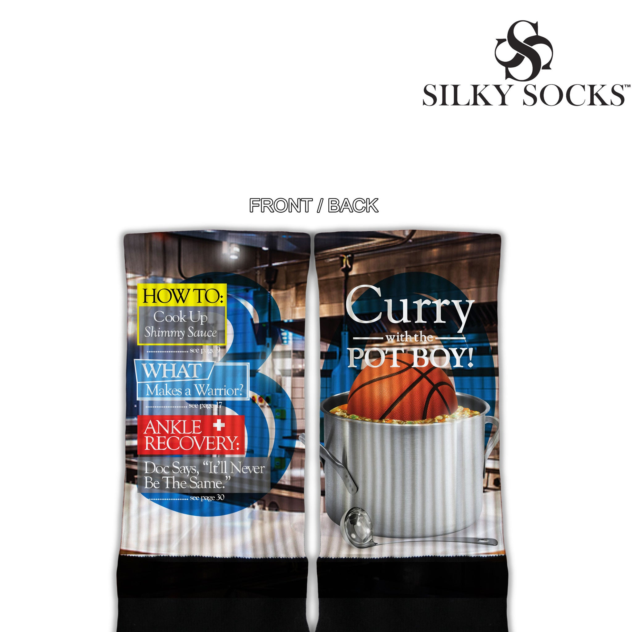 Curry with the Pot Boy Blackfoot Socks