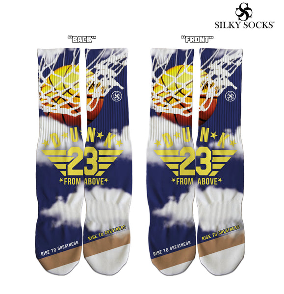 Air Jordan 4 Dunk From Above Silky Socks to Match Air Jordan Sneakerhead Shoes kicks Sublimation all over print