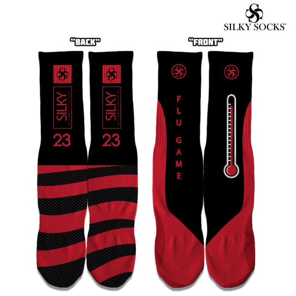 Silky Socks to match Air Jordan Flu Game 12 Sneakerhead Shoes Sublimation All over print Michael Jordan 23