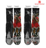 Silky Socks to match Air Jordan Flu Game 12 shoes Scotty Pippen Maichael Jordan sick flu game sneakerhead socks bulls