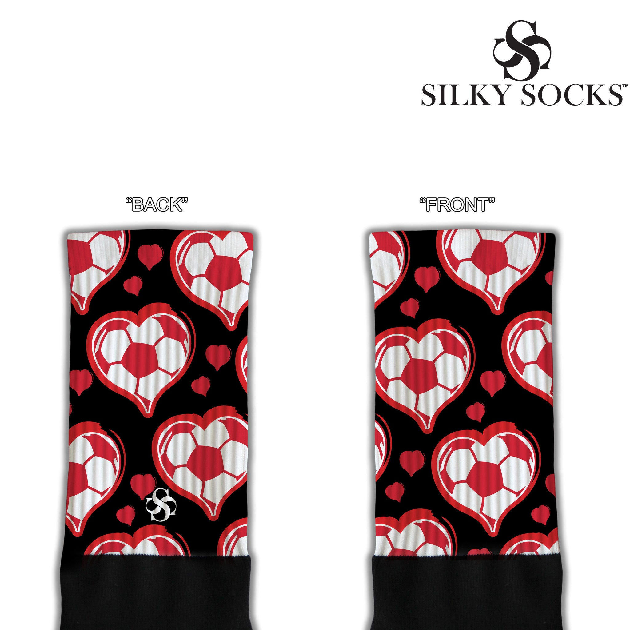 Hearts of the Soccer Game Blackfoot Socks