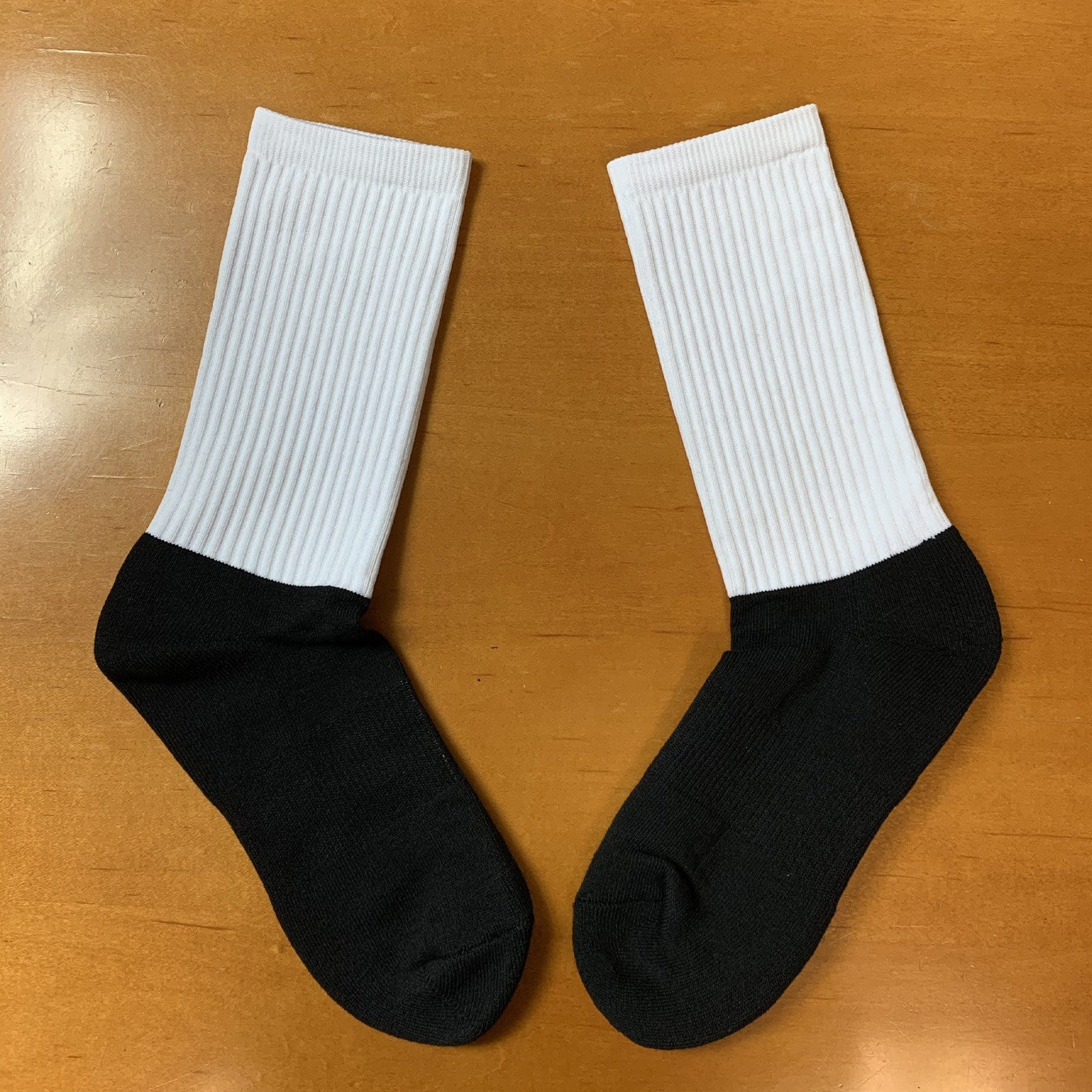 V1 Black foot White-top Athletic Socks- Discontinued Model - CLEARANCE