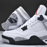 Custom Silky Socks to match air michael jordan 4 OG cement sneakerhead shoes