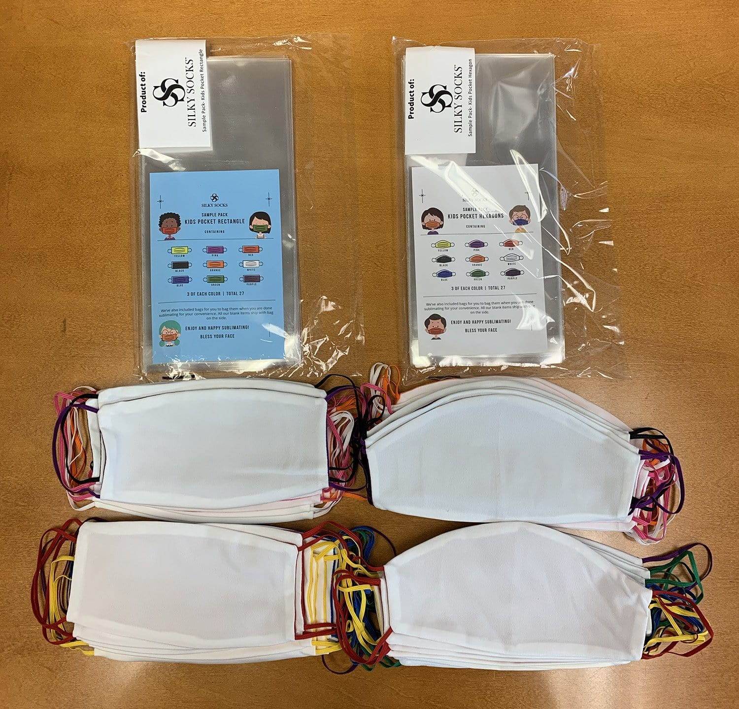 Sample Pack of Blank Face Masks