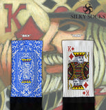 King of Diamonds Blackfoot Socks Blue