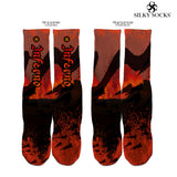 "Kyrie Irving ""Inferno"" Custom Full Print Socks"