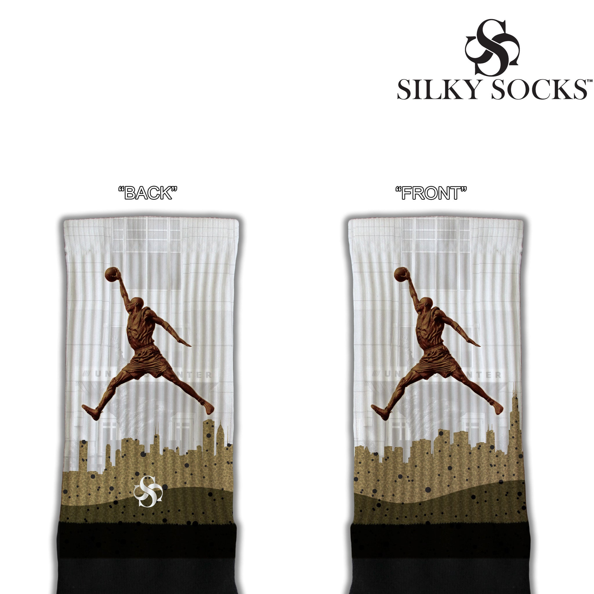 Legendary Silky Socks Jordan Statue United Center Chicago match Air Jordan Shoes Sneakerhead