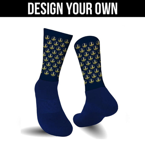 Navy Athletic Socks - Custom