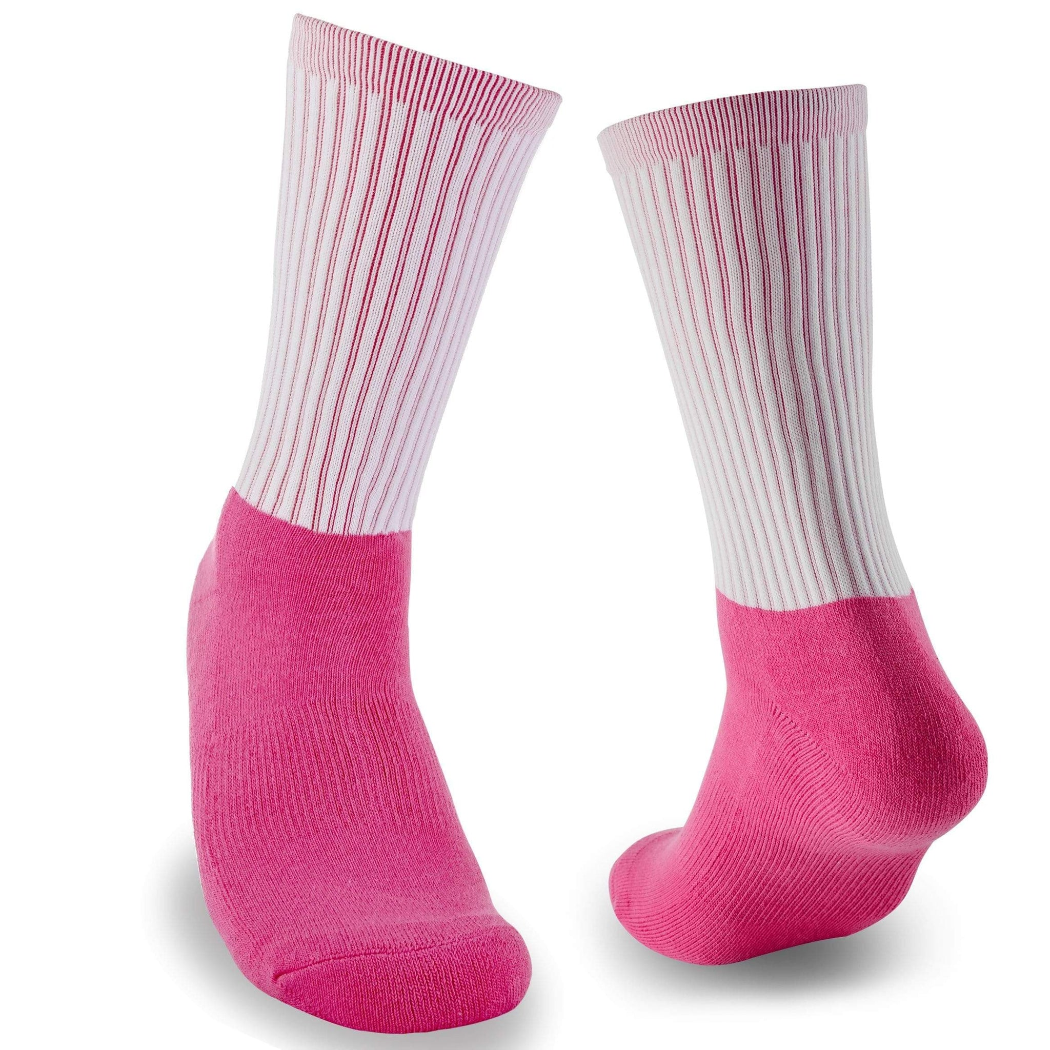 Blank Athletic Socks- Pink Foot Pink Interior Socks for Sublimation