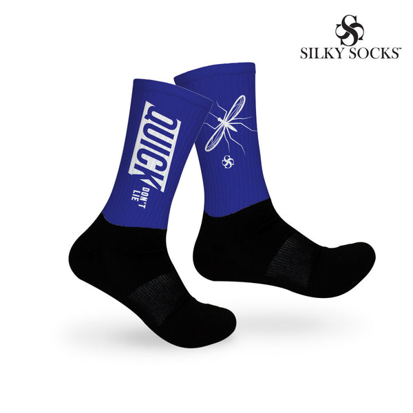 Mosquito- Quick Don't Lie Socks- Blue