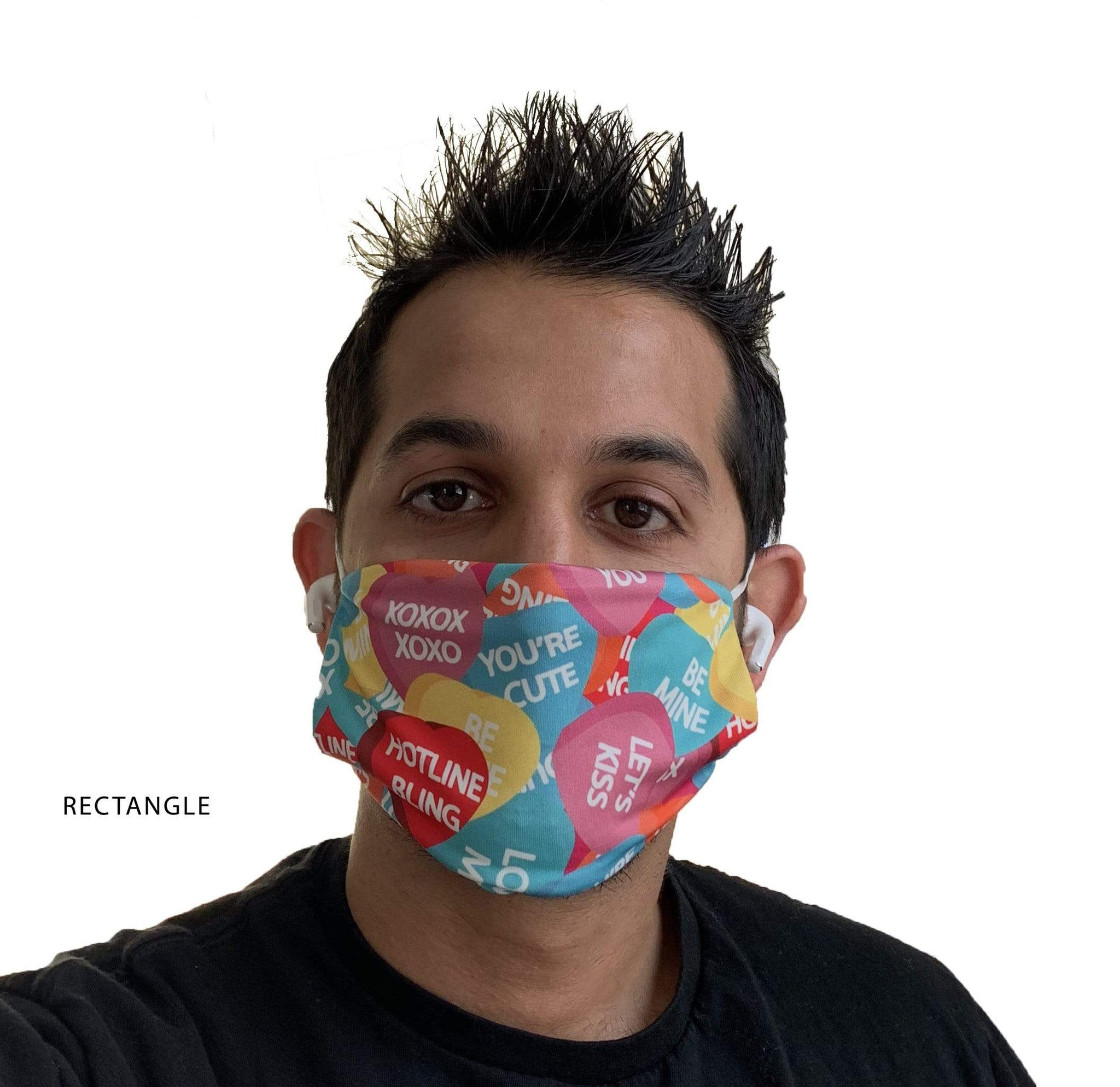 Blank Face Masks - Rectangle - *In Stock