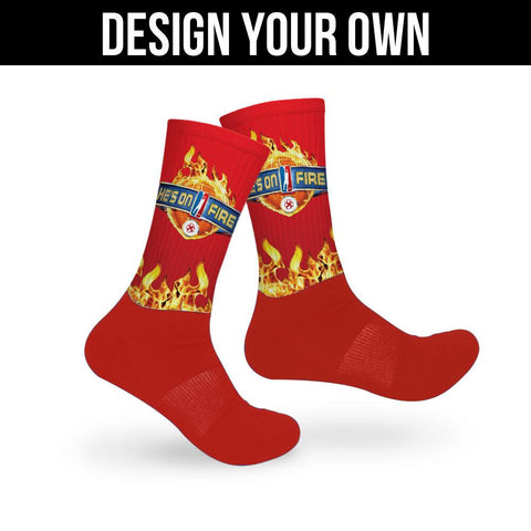 Red Athletic Socks - Custom