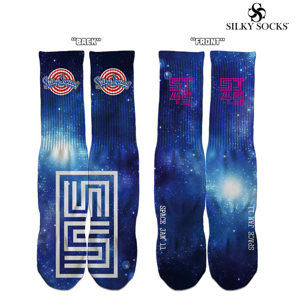 Space Jam Air Jordan 11 Custom Fullprint Socks