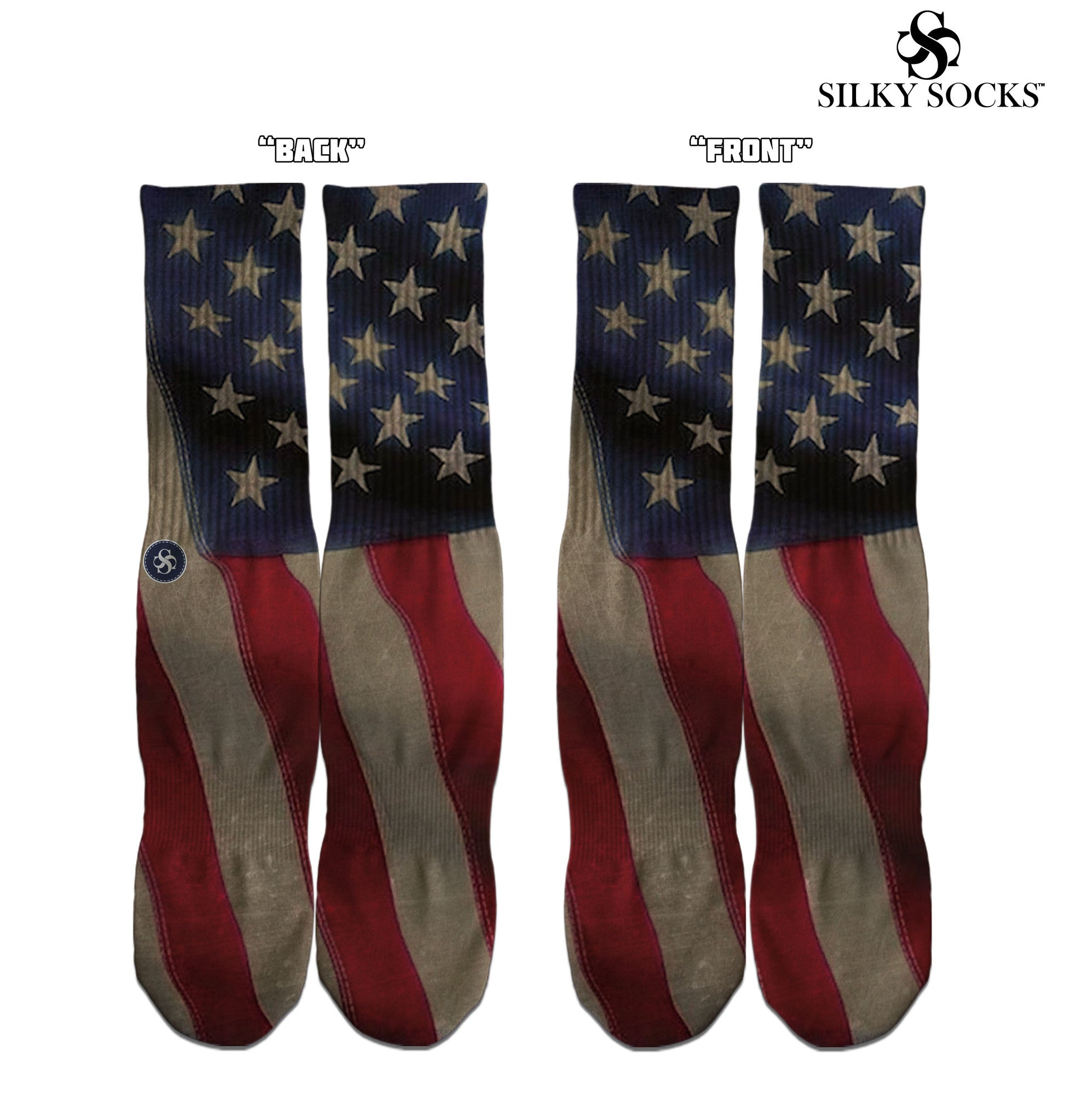 Vintage Flag Full Print Socks