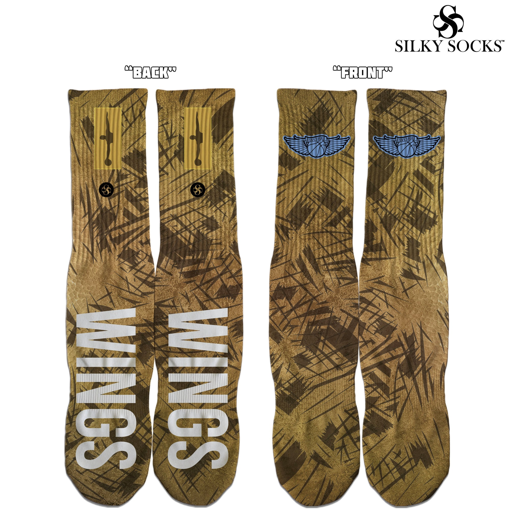 wings air jordan 1 custom socks silky socks