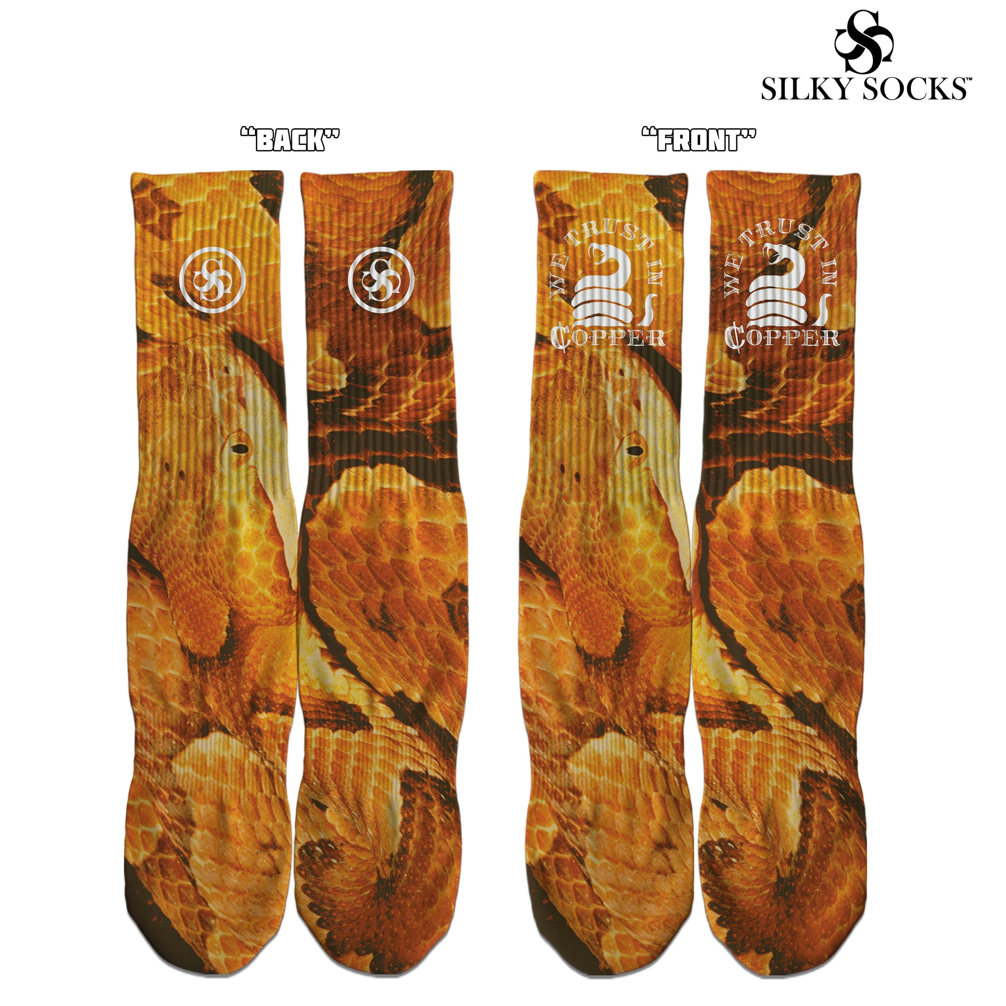 we trust in copper custom socks