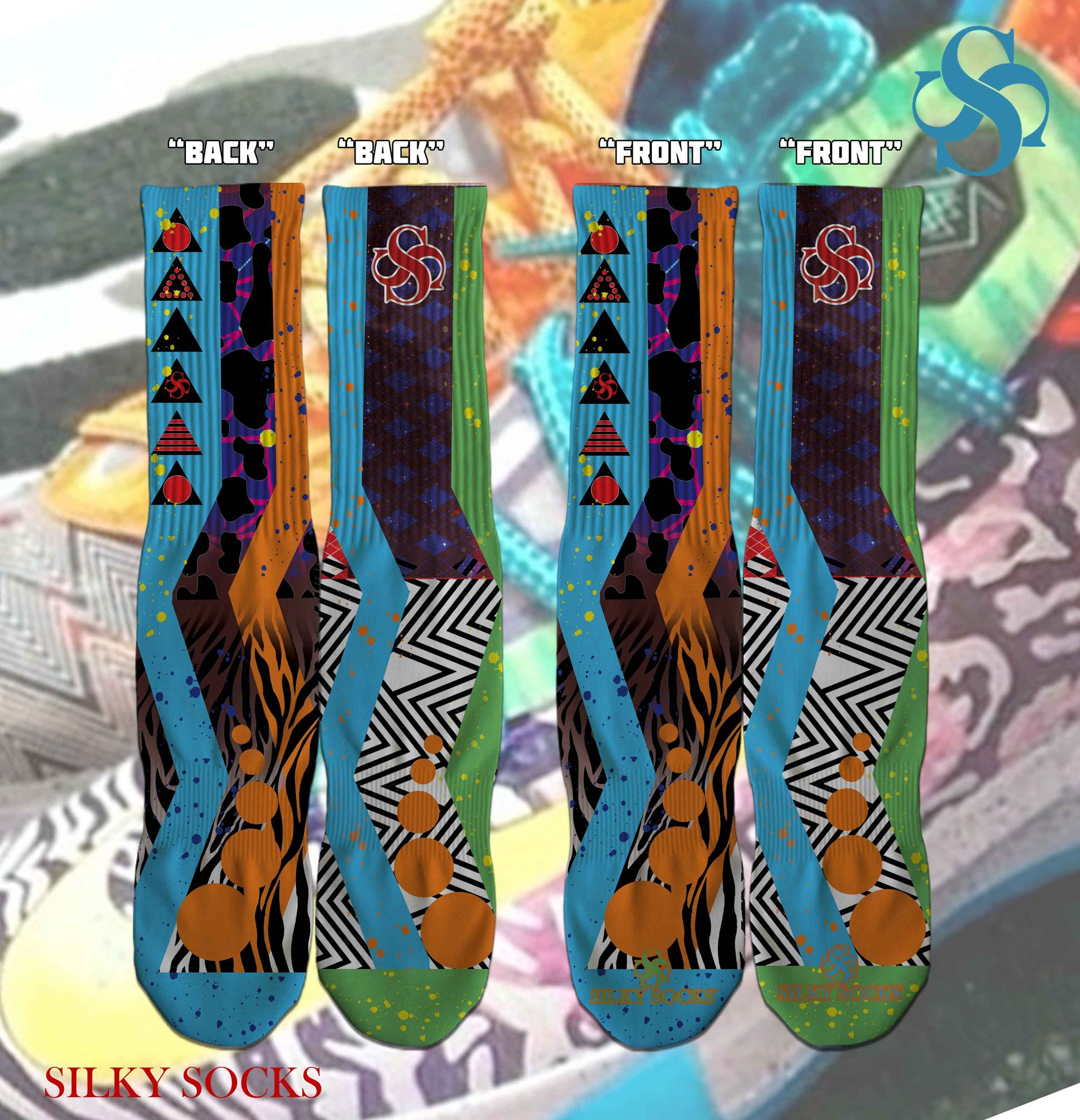 What the KDs Full Print Socks