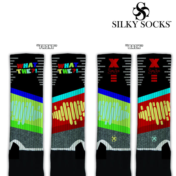 "Kobe X ""WHAT THE?!""  Knee High Blackfoot Socks"