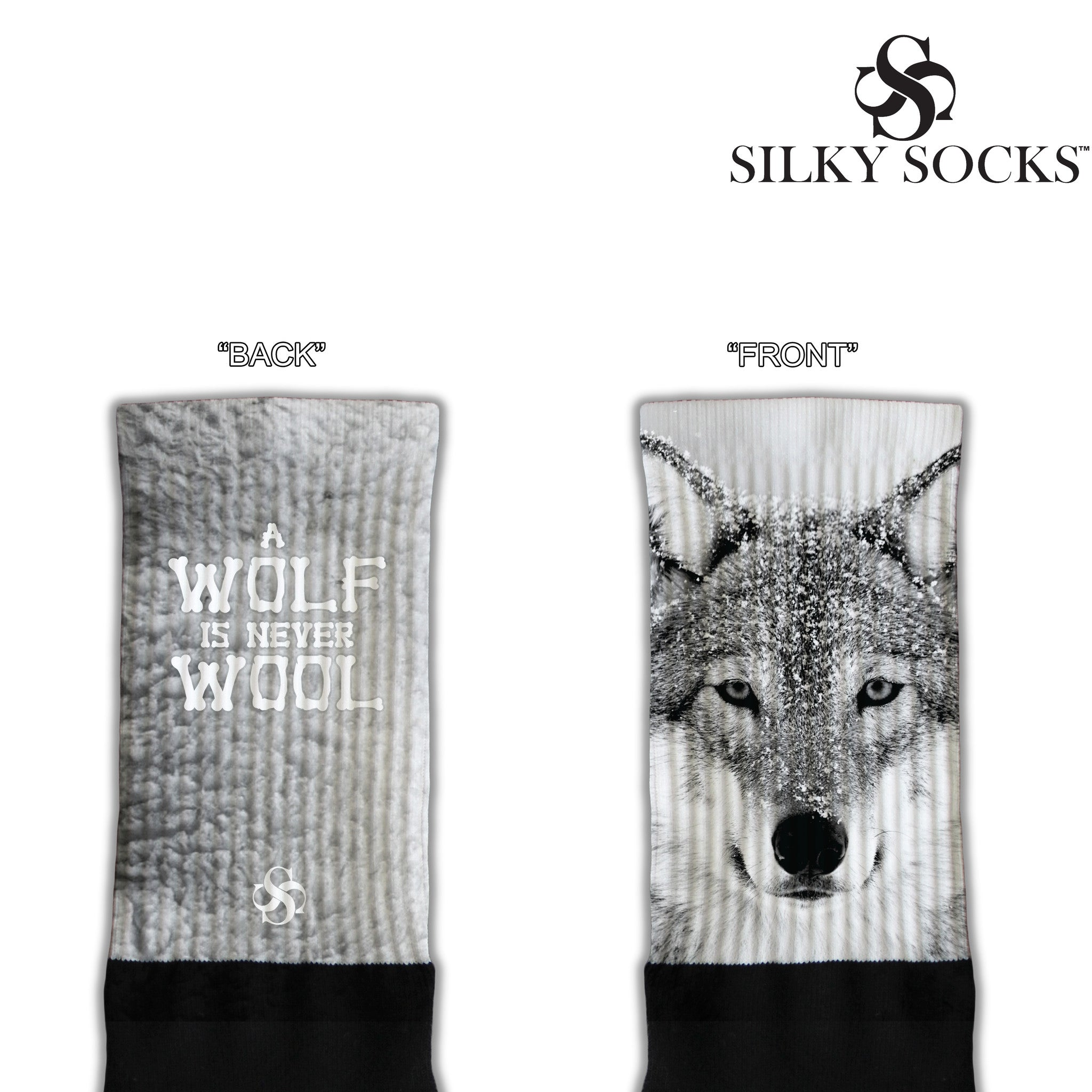 Air Jordan 3 Wolf Never Wool Custom Blackfoot Socks