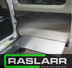 Raslarr Nissan Patrol GU Stainless Door Fold Down Bench