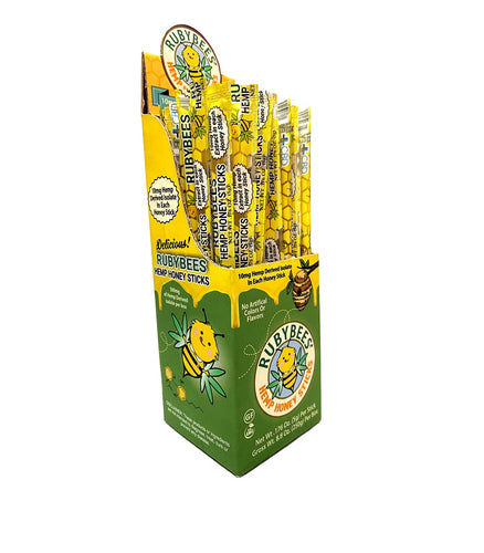 RubyBees Hemp-Infused Honey Sticks