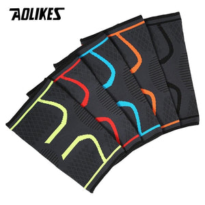 Aolikes Knee Compression Sleeve Support for Running, Jogging, Sports - Brace for Joint Pain Relief, Arthritis and Injury Recovery - Single Wrap - Roamify