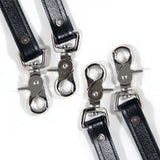 Close up of silver scissor clips