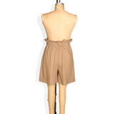Khaki Paper Bag Shorts