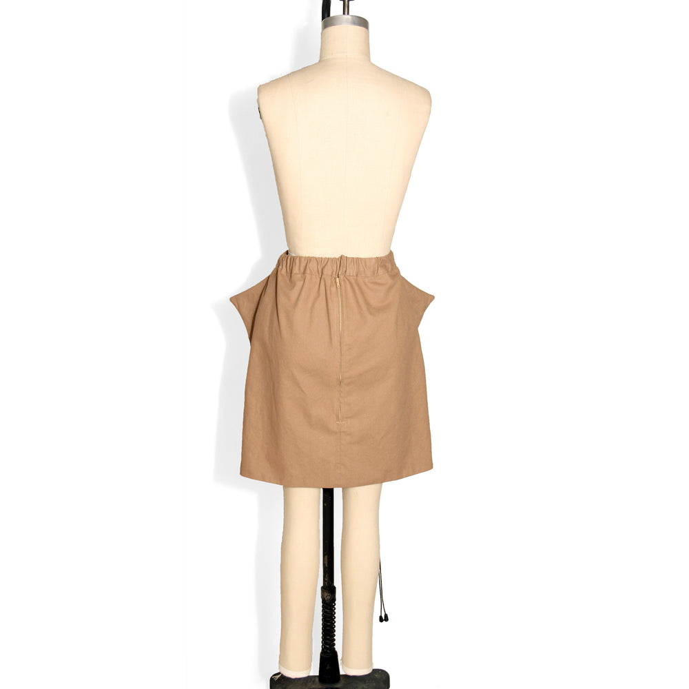 Khaki Shark Fin Skirt