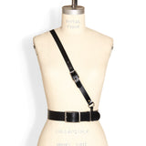 Military Belt -- Black Leather