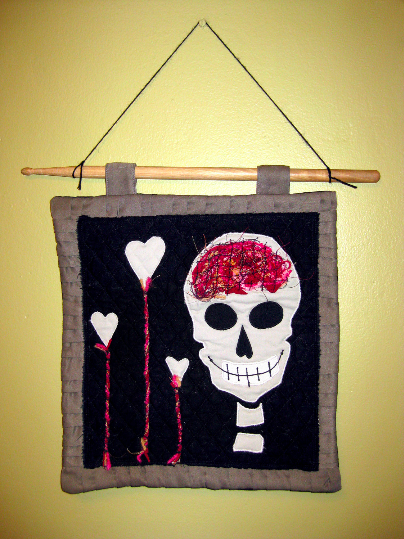 Brains & Love Fabric Wall Hanging